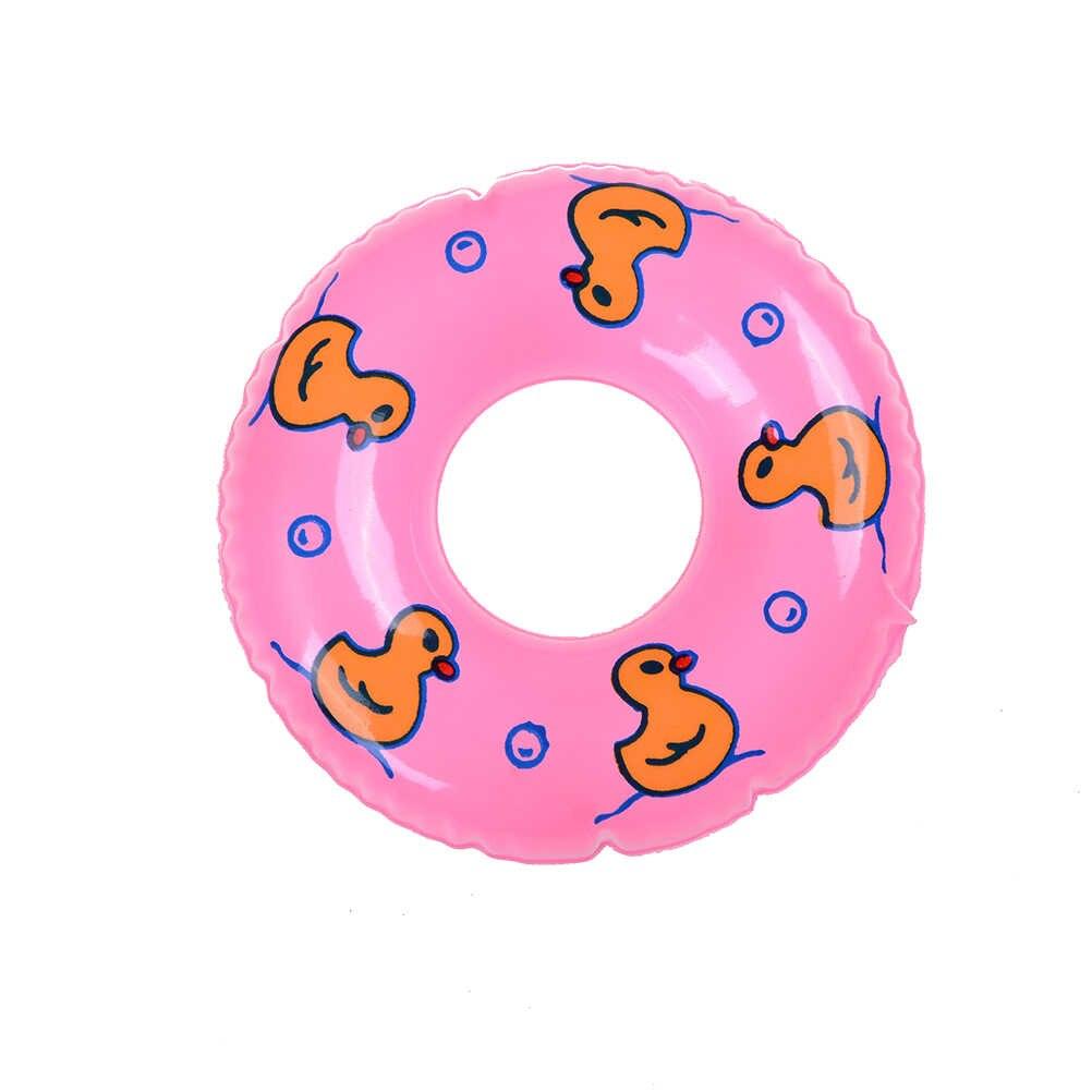 かわいいミニピンクブルー水泳ブイ Lifebelt リングのために人形アクセサリーのためのモンスターのおもちゃ人形赤ちゃんのおもちゃ最高のギフト