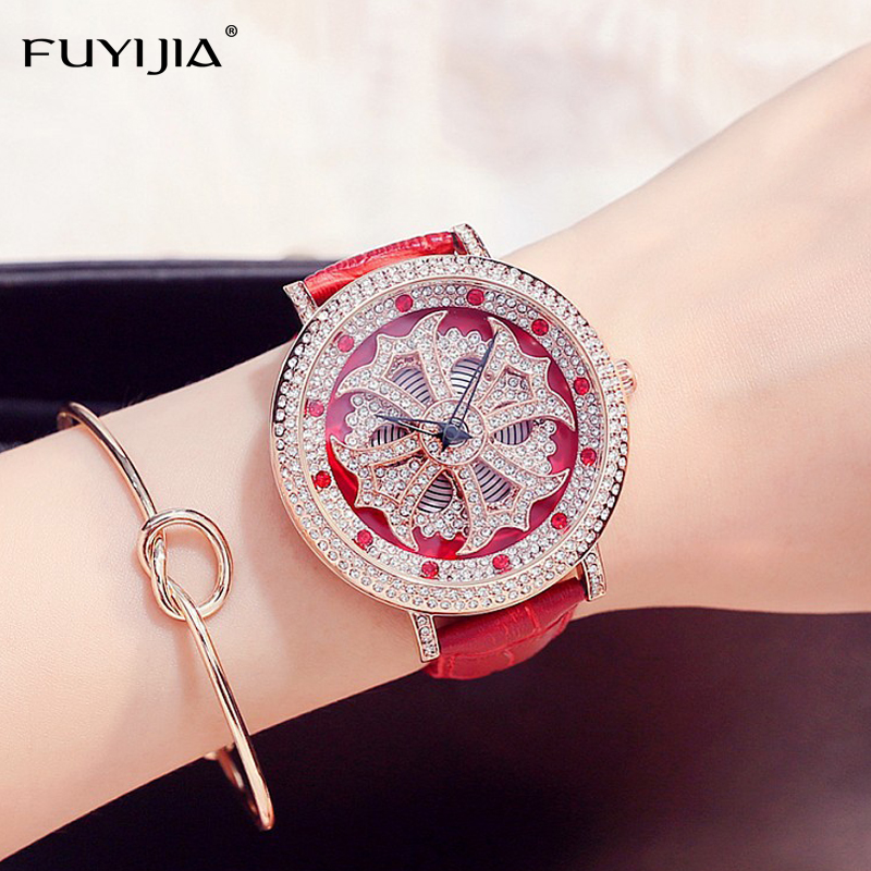 2018 New Women's Watches Ladies Dress Quartz Watch Top Brand Leather Bracelet Rose Gold Watch Lady Planet Star Watch Waterproof 2016 new watch creative fashion lady love rose gold bracelet watch korea version of the trend of personalized watches