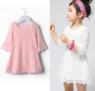 2016 new arrival Baby Girls Lace A-line Dresses Girls Kids Summer Dress One-piece Dress costume muqgew 2018 new arrival baby dress