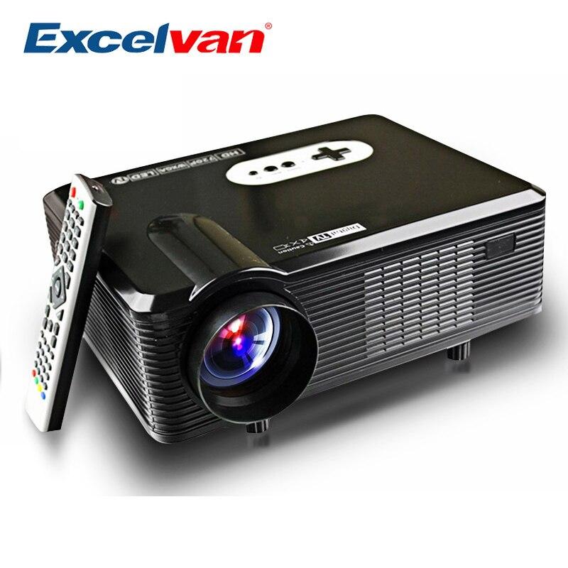 Excelvan CL720 CL720D светодиодный проектор 3000 люмен 1280x800 HD ЖК дисплей ТВ проектор Интерфейс для Кино Home Entertainment PK GP90