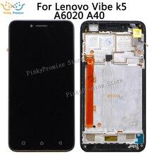 Для Lenovo vibe k5 A6020A40 ЖК-дисплей Сенсорная панель дигитайзер в сборе с рамкой запасные части