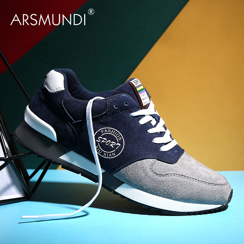 [Disc 55%] ARSMUNDI Original Men's Walking Shoes BX-9931 Fall 2019 PU Waterproof Leather Stitching Leisure Walking Shoes Mens Walking Shoes