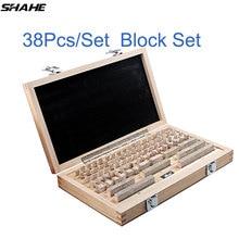 shahe 38Pcs/Set 1 grade 0 grade Inspection Block Gauge Test Caliper Blocks Measurement Instruments