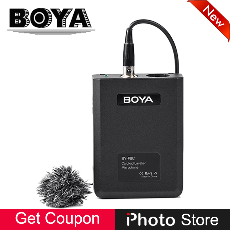 BOYA BY-F8C Pro Cardioid Lavalier XLR Output Condenser Microphone for Vocal Acoustic Guitar Music Instrument Video Recording Mic professional lapela condenser saxophone microphone music instrument microfone for shure wireless system xlr mini microphones