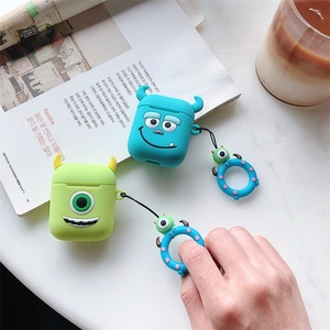 Image 1 - Cute Cartoon Soft Silicone Case For Apple Airpods Shockproof Cover For AirPods Earphone Cases Air Pods Case Earphone Accessories