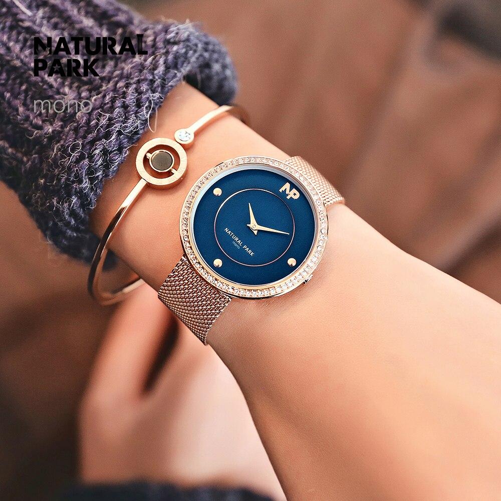 Часы из нержавеющей стали с золотым плетением, женские брендовые Роскошные повседневные часы, женские наручные часы, женские часы - 2