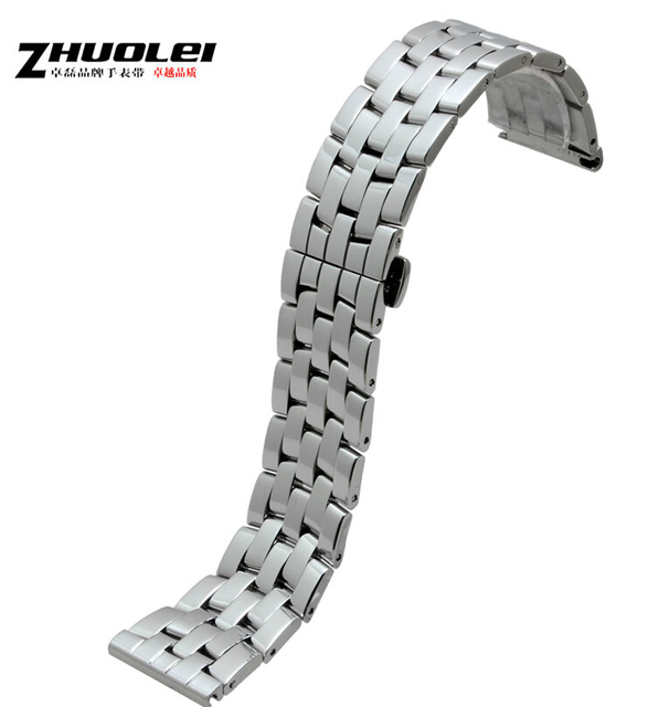 Nuevos Mens correas de reloj correa de Acero Inoxidable pulido de grado Superior pulseras Reloj de Pulsera Banda de Reemplazo