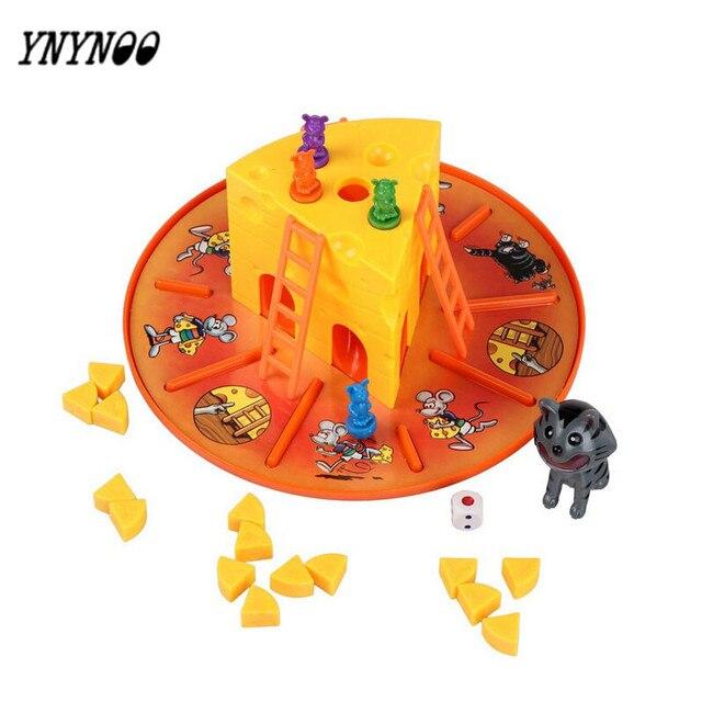 YNYNOO NEUE ANKÜNFTE NEUE SPIEL REQUISITEN Katze und Maus Essen Käse kinder Kinder Große Familie Spaß Spiel Spielzeug Beste Geschenke Für KINDER OT243