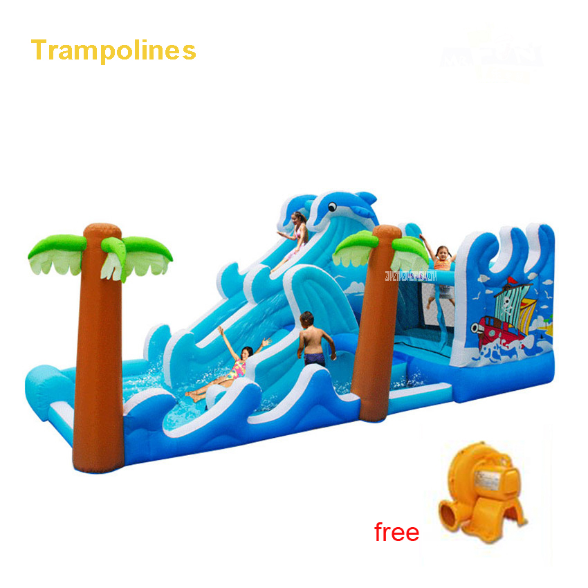 PVC Bounce House Inflatable Trampoline Jumping Bouncy Castle Bouncer Jumper With Climbing Indood Playground For Kids Play 5602 yard inflatable jumper bouncy castle nylon bounce house jumping house trampoline bouncer with free blower for kids