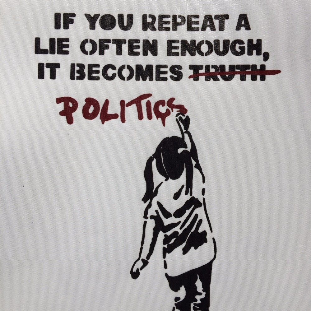 For Sale Banksy Lies And Politics Canvas Painting Graffiti