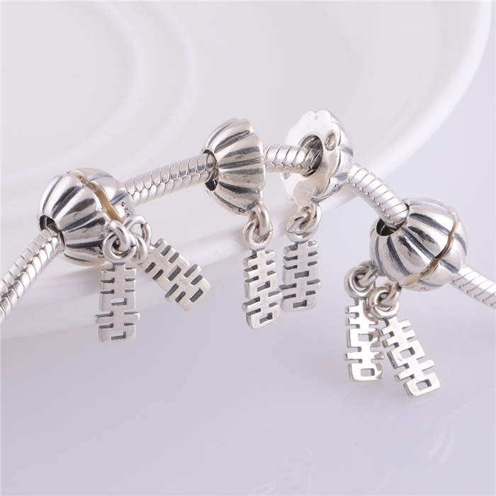 Lw306 Chinese Symbol Charms Wedding Charm 925 Sterling Silver