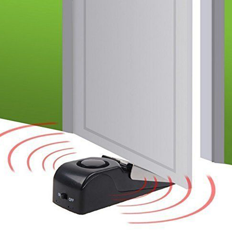 Free Shipping Wireless Vibration Triggered Home Wedge Shaped Stopper Alert Security System Door Stop Alarm Block : door alert - Pezcame.Com