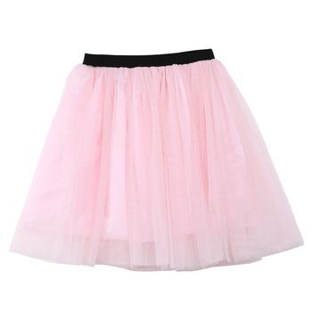2019 Lovely Short Sleeve T-shirt  TuTu Skirt 2pcs Mother Daughter Dresses Cotton Summer Clothes Family Kids Parent Child Outfits 5