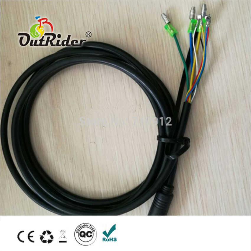 CE/EN15194 Approved 9-Pin Mini Water-proofed connector extension cable for hall Motor Extension cable OR06A5