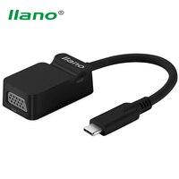 Llano 1080 P USB 3.1 Tip C için VGA dönüştürücü Erkek Kadın USB-C Adaptör Kablosu Macbook Chromebook Piksel