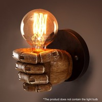 Innovative 20X15cm Fist Resin Wall Lamps Decoration Cafe Restaurant Bar Bedroom Wall Lamp E27 220V outdoor lighting wall lamps