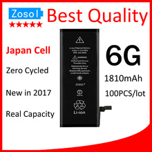 100pcs/lot Best Quality 0 zero cycle Battery for iPhone 6 6G 1810mAh 3.82V Replacement Repair Parts