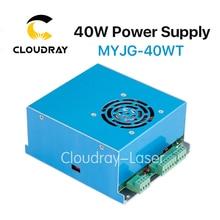 Cloudray MYJG T Zasilanie Lasera CO2 40 W 110 V/220 V Wysokiego Napięcia dla Rury Grawerowanie Laserowe Maszyna do cięcia 1 Rok Gwarancji