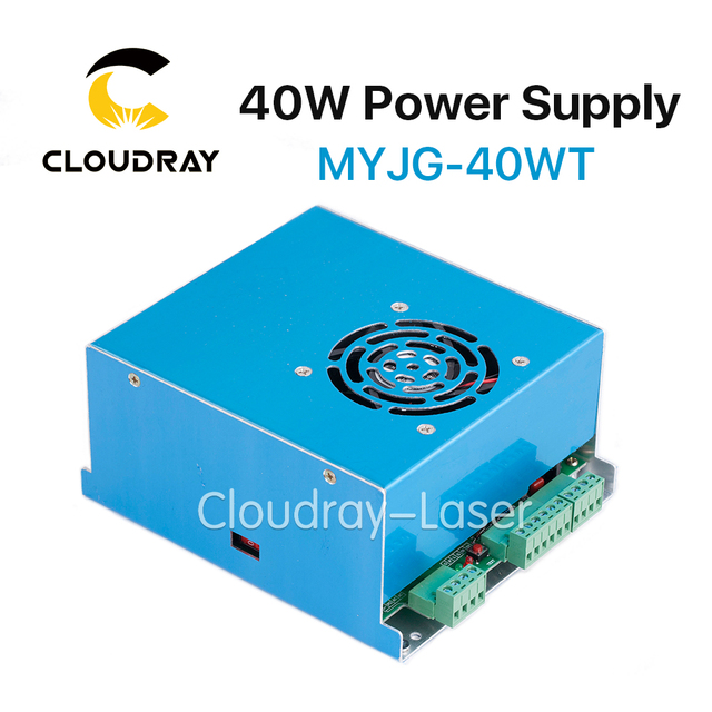 Cloudray MYJG 40W T CO2 Laser Power Supply 110V/220V High Voltage for Laser Tube  Engraving Cutting Machine  1 Year Warranty