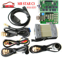 Mais Recente de alta MB Diagnostic Tester Multiplexer MB Estrela C3 conjunto completo com todos os cabos + Software com interno