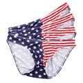 4PCS Sexy Men Underwear Briefs Bikini Cotton New Designed Low Waist Mens Briefs Underpants Gay Penis Pouch Underwear
