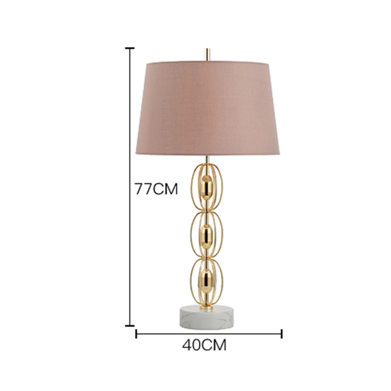 American Minimalist Table Lamp with Marble Base Lampe de Chevet Modern Metal Stand Bedroom Table Light 5 Frais Lampe De Chevet Metal Design Kgit4