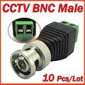 10 pçs/lote acessórios CCTV Coax CAT5 para Camera CCTV vídeo Balun BNC conector