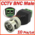 10 unids/lote accesorios CCTV CAT5 coaxil a CCTV BNC del Balun conector