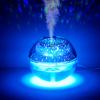 500ML USB Humidifier Night Light Aromatherapy Aroma LED Essential Oil Diffuser Air Vaporizer Home Colorful Projection Star Lamp