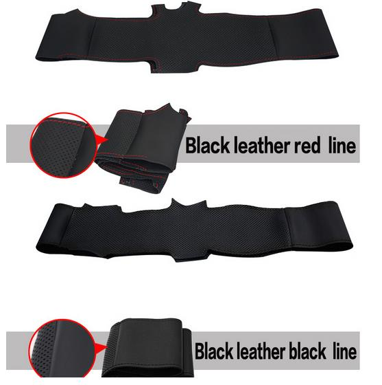 Black Artificial Leather Steering Wheel Cover for Toyota Corolla 2004 2006 Caldina 2002 2007 RAV4 US 2004 2005 Scion tC in Steering Covers from Automobiles Motorcycles