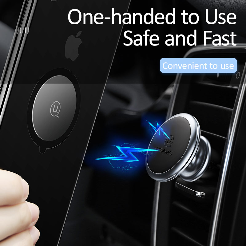 Image 3 - USAMS Magnetic Car Phone Holder Car Magnet Holder Air Vent Mount Cell Phone Stand mobile Phone Holder for iPhone Xiaomi Huawei-in Phone Holders & Stands from Cellphones & Telecommunications