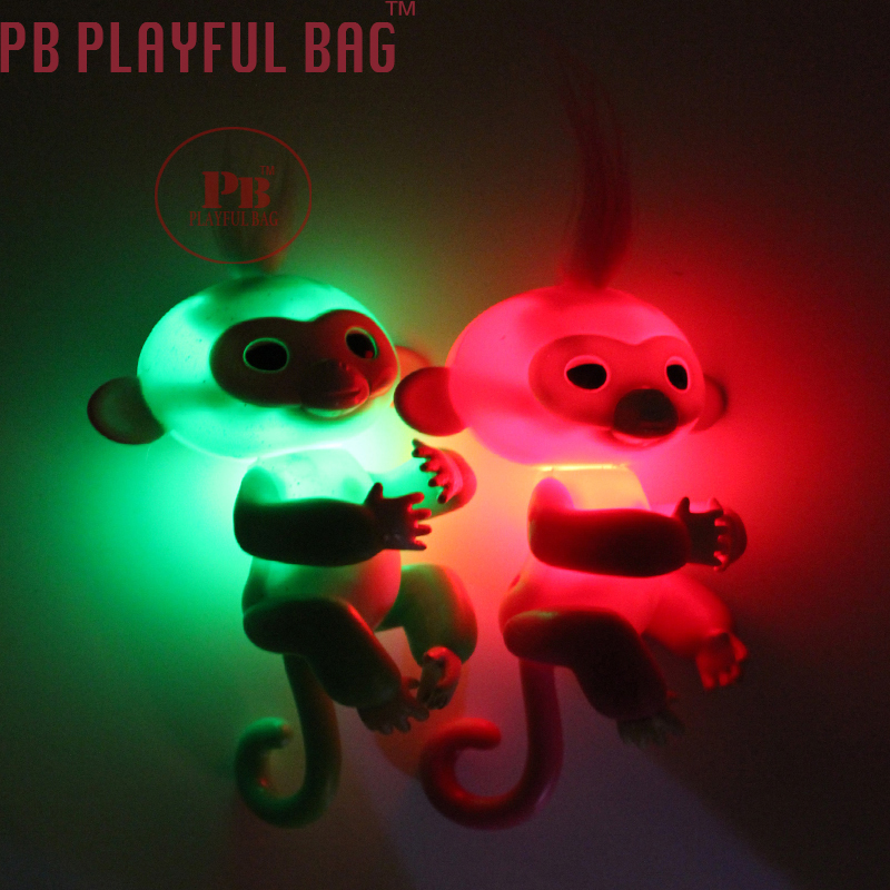 PB Playful bag 20pcs color random distribution light sounding monkeys children Christmas best gift 40pcs tap