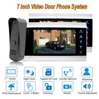 НОВЫЙ дверные звонки видеодомофоны системы 7 TFT 1200TVL охранных с IP 65 непромокаемые 1 камера 2 Мониторы