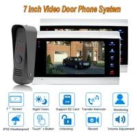 Новый Дверные звонки видео Домофон Системы 7 TFT 1200tvl безопасности дома с IP 65 непромокаемые 1 камера 2 Мониторы
