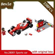 New Bevle Store LEPIN 28001 198Pcs with original box Technic series Super sports Building Blocks Bricks For Children Toys 75879