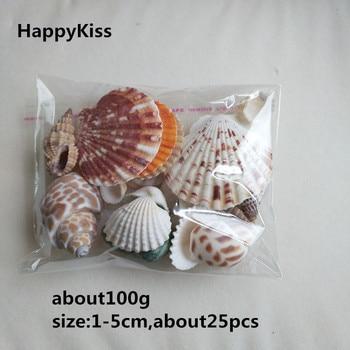 e54abd7868e7 HappyKiss 100g joyería de moda decoración de playa conchas de mar de moda  para DIY Caft decoración natural mar estrella