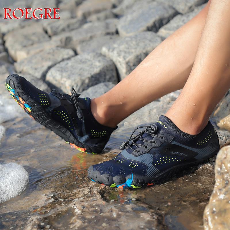 2019 hommes plage été Wading chaussures décontractées natation sur Surf séchage rapide baskets peau chaussette rayé homme eau chaussures grande taille