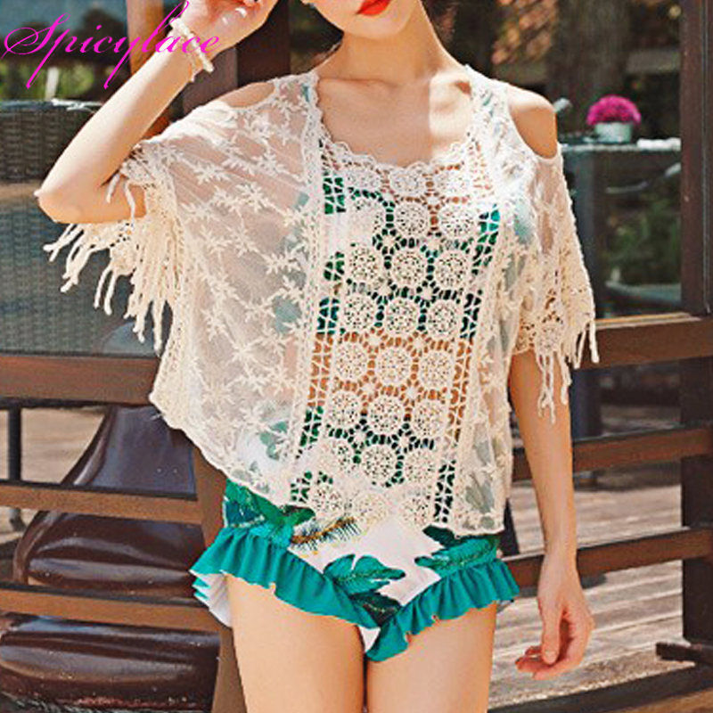50pc Wholesale  Tops For Women 2018 Beige Sexy Lace Cotton Flower Short Sleeveless Blouses Off Shoulder Korean Fashion Clothing