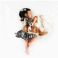 Baby Girl Dress New 2017 Summer Classic Black White Plaid Casual Puff Sleeve Dresses For Toddler