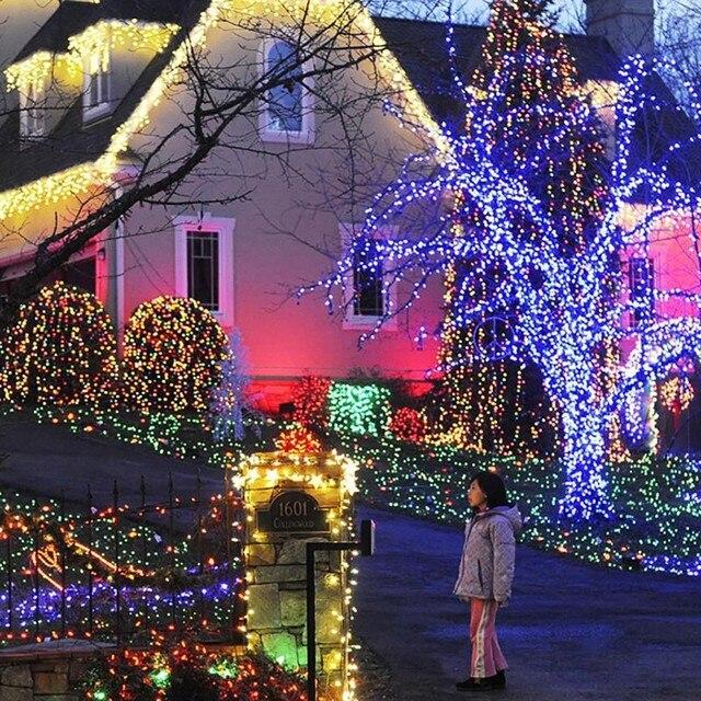 100 LED Solar LED String Light Lamp Garland Garden Christmas Solar Lights  for Fairy Holiday Wedding - 100 LED Solar LED String Light Lamp Garland Garden Christmas Solar