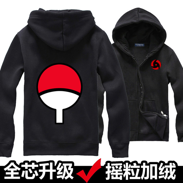 Naruto Sweatshirt Coat Fleece Zip Hoodies