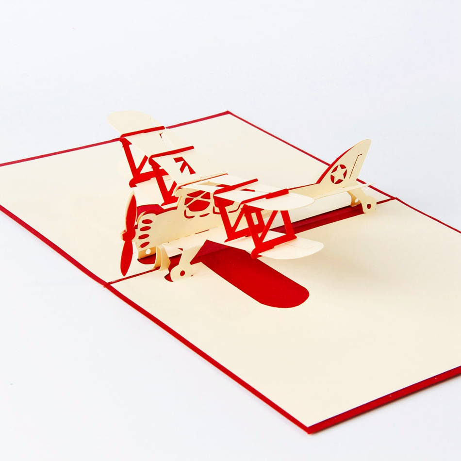 Airplane model 3d laser cut pop up blank holiday happy birthday airplane model 3d laser cut pop up blank holiday happy birthday greeting cards gifts post cards wishes bulk wholesale in cards invitations from home m4hsunfo