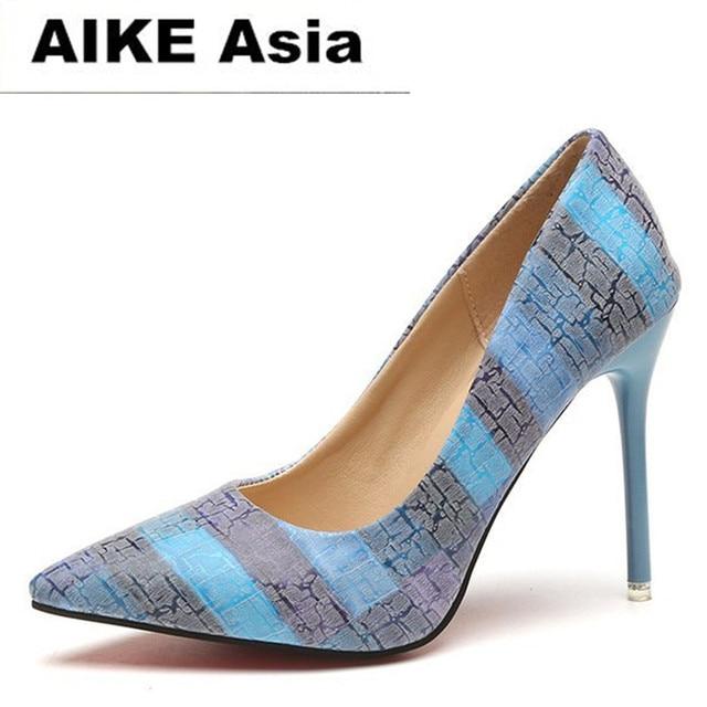 Scarpe di marca Donna di Alta Talloni delle Pompe Tacchi Alti 10 cm Scarpe  Da Donna b9ceb05f9c3