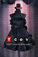 Brdwn K-On! kadın Bas Oyuncu Akiyama Mio Lolita Cosplay Kostüm Gotik Bak Elbise Rode Akşam Elbise