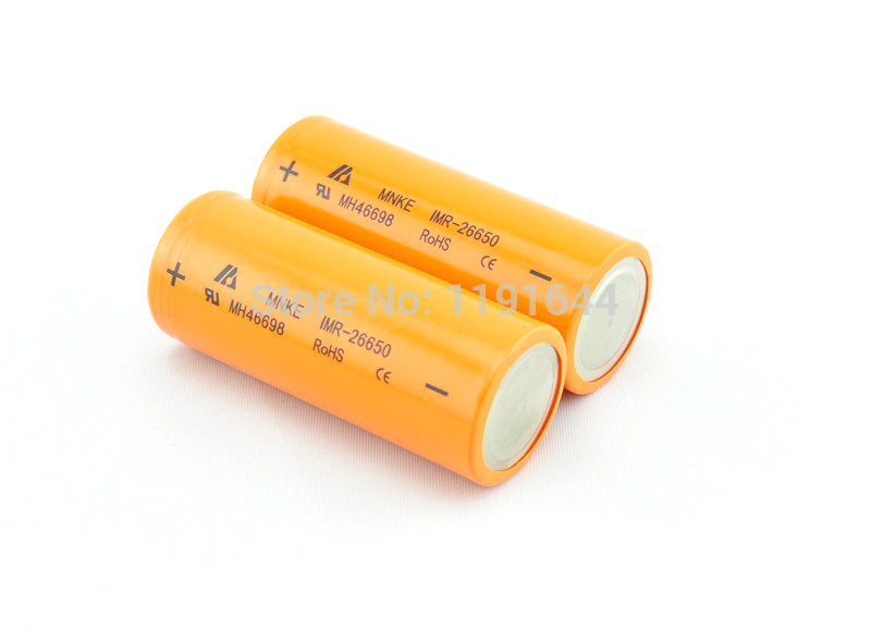 Free Shipping!!!6PCS/LOT Real capacity MNKE 3.7V 26650 IMR26650 3500mAh high drain 30A discharge rechargeable battery