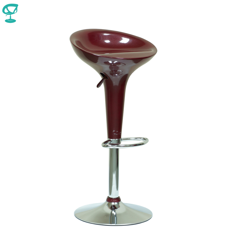 94672 Barneo N-100 Plastic High Kitchen Breakfast Bar Stool Swivel Bar Chair Cherry Free Shipping In Russia
