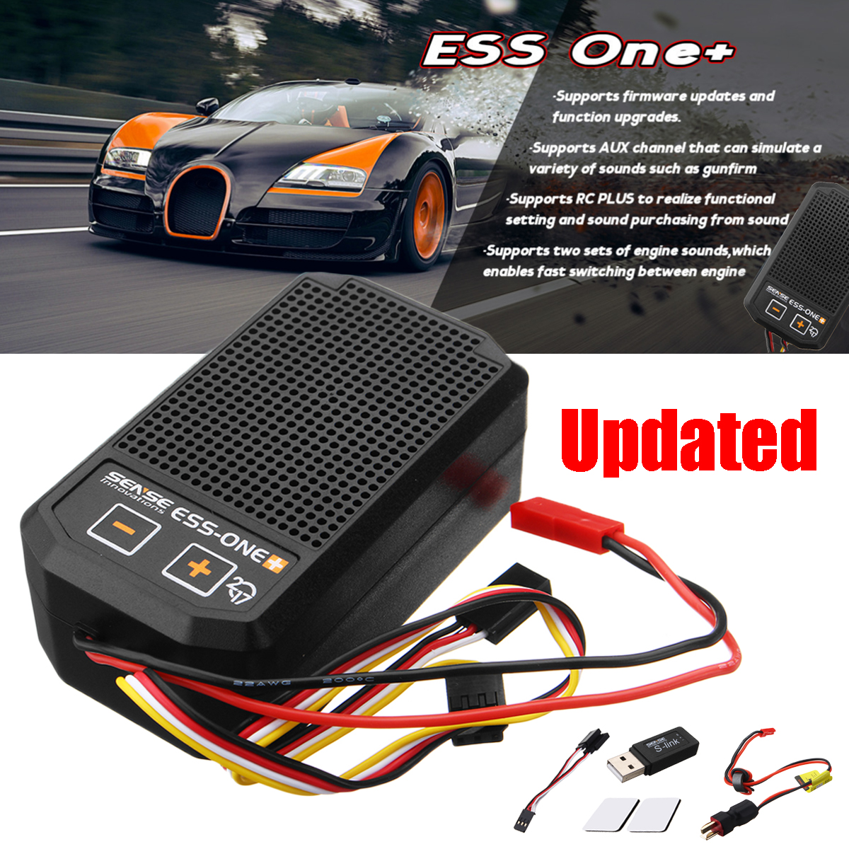 все цены на Real Engine Sound Simulator Kit RC Car Parts Sense Innovations One Plus 2017 Advanced DNS/DCR Overload Protected Intelligent онлайн