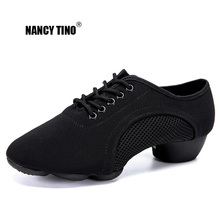 NANCY TINO Women Ladies Breathable Mesh Ballroom Party Latin Tango Dance Shoes Lace Up Indoor/Outdoor Modern Dancing 35-44
