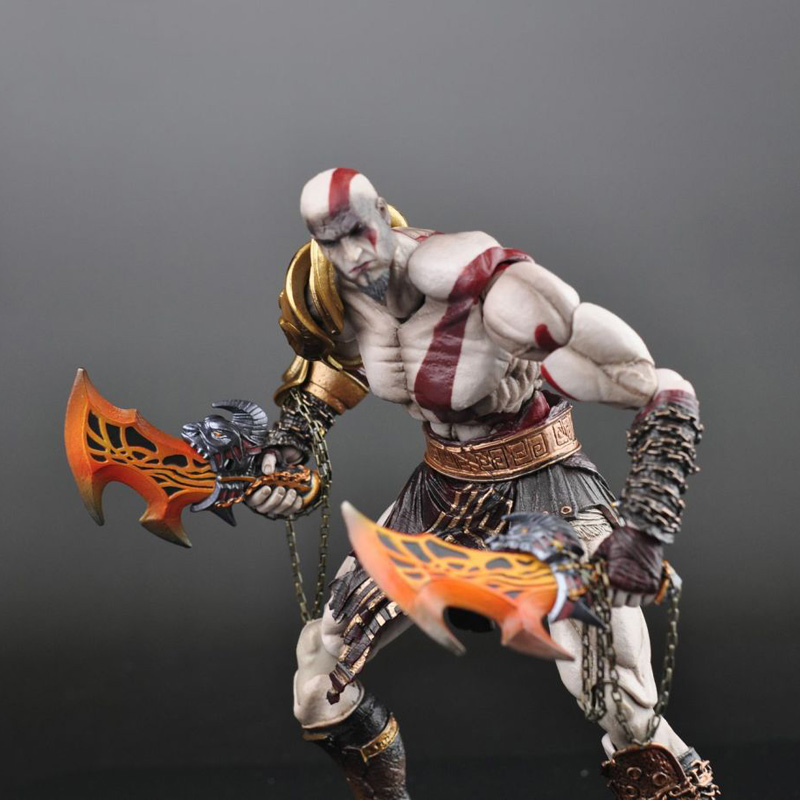 SQUARE ENIX Play Arts KAI God of War Kratos PVC Action Figure Collectible Model Toy 22cm KT1785 neca god of war 3 kratos 18 inches kratos ghost of sparta pvc action figure collectible model doll toy with box