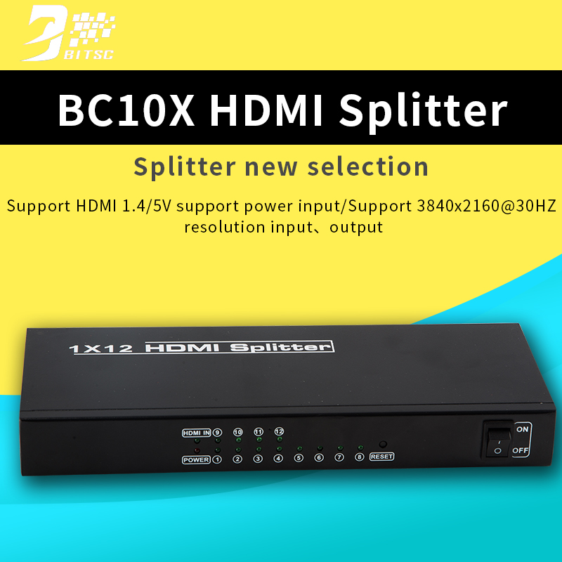 SZBITC HDMI splitter HDPC 1x4 1x8 1x9 1X12 1x16  Video Wall Controller Screen Splitter HDCP2.2 EDID RS232 for PC DVD top speed 1 to 4 hdmi splitter 1080p 4 ports output 1 4v 3d hdmi swicth 1 4 audio and video hdmi divider for ps3 tv dvd pc